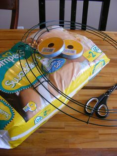 The Complete Guide to A Baby Shower Diaper Wreath This will be useful for making gifts for future baby showers!
