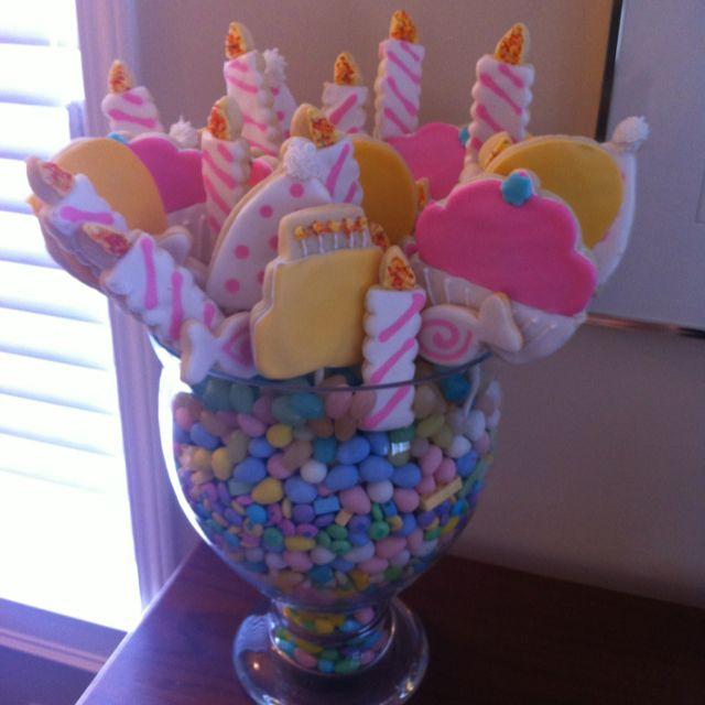 Birthday Sugar Cookie Bouquet Birthday Sugar Cookies Pinterest