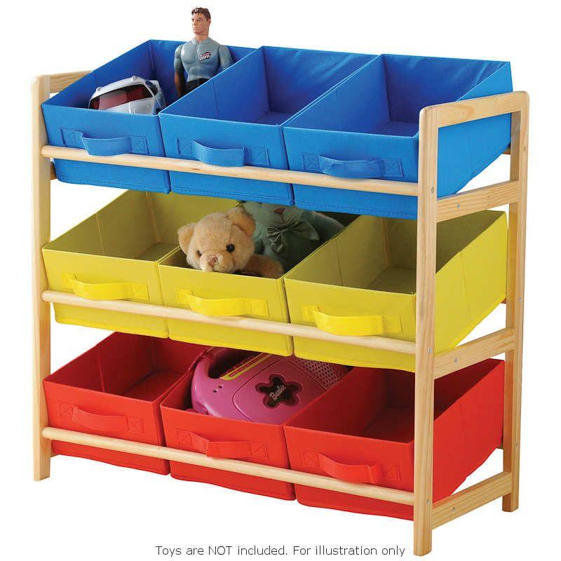 Childrens Kids 3 Tier Toy Bedroom Storage Shelf Unit 8: Playroom Storage, Toy Storage
