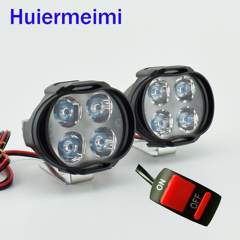 Huiermeimi 2 Stks Motorfiets Led Koplamp Koplamp 12 V 1000lm Moto Spotlight 6500 K Motorbike Led Decoratieve Lamp Spot Head Lamp Decor Led Headlights Headlamp