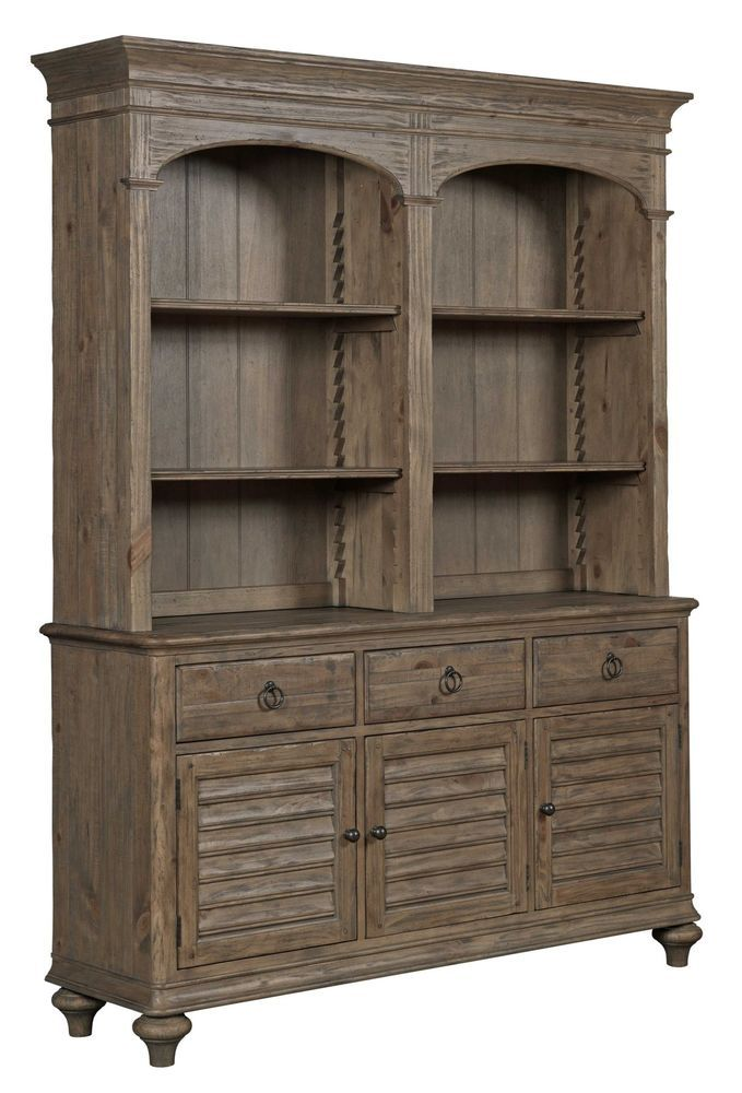 Kincaid Weatherford Hastings Open Hutch And Buffet In Heather Finish Casual ChinaHutchDeck Dining Room