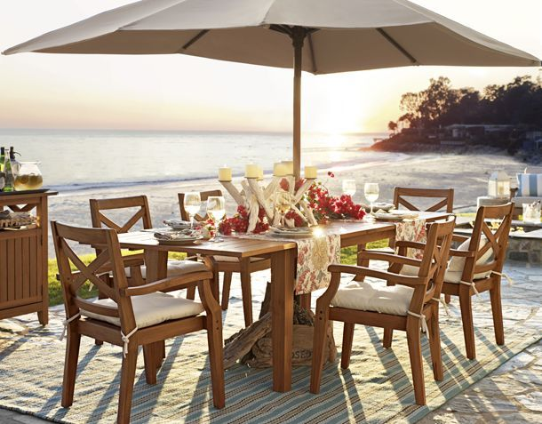 Captivating Dear Pottery Barn, Can I Have Dinner Here Every Day. Oh And Make That ·  Dining Table ChairsOutdoor ...