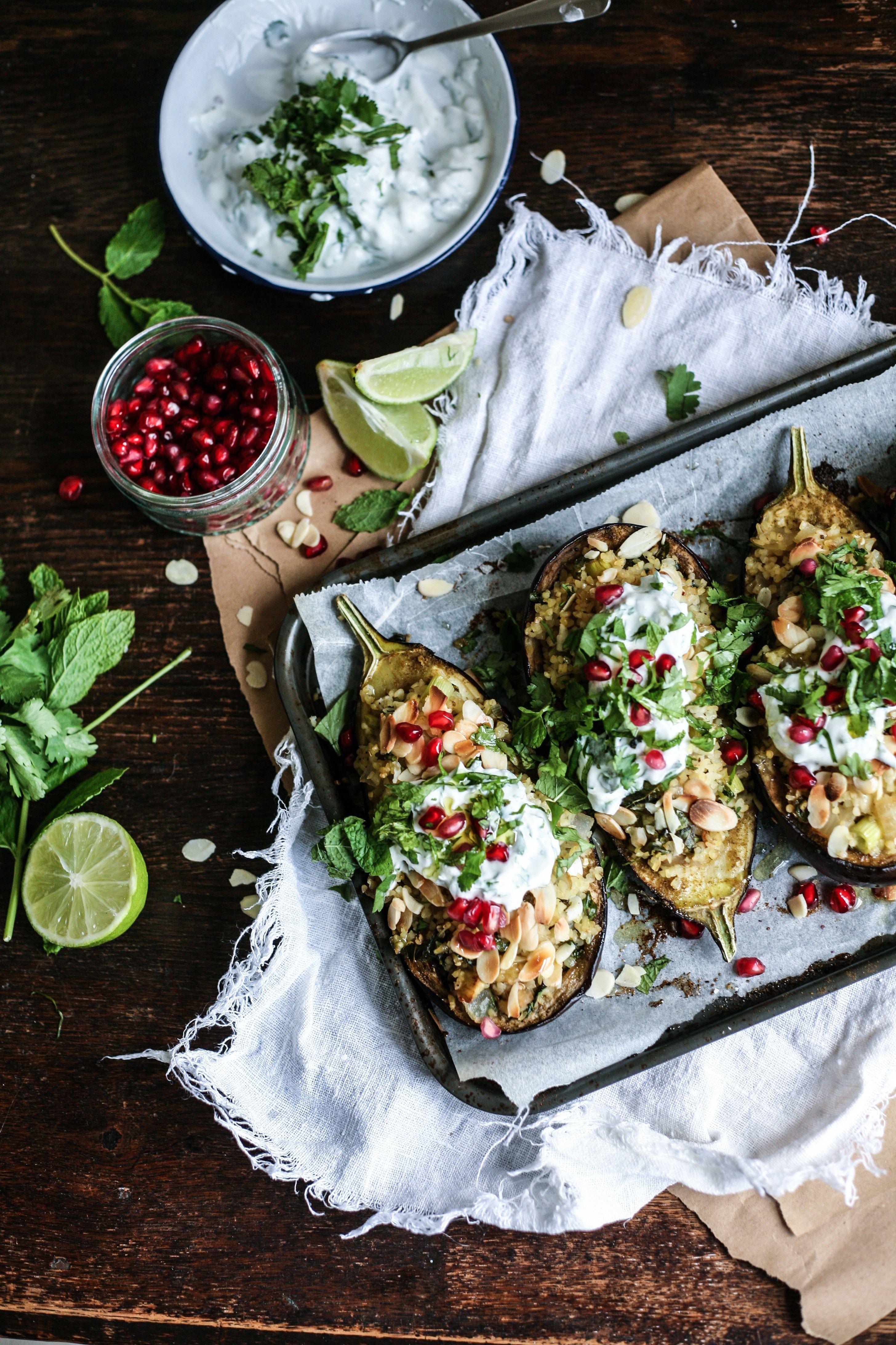 Middle Eastern Bulgur Stuffed Eggplants Bon Appetit Food