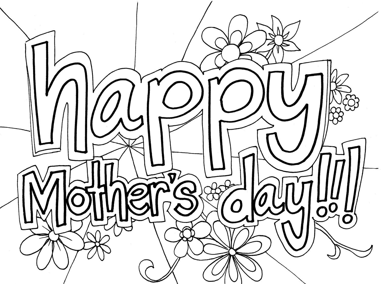 christian mothers day coloring pages free large images - Mothers Day Coloring Pages