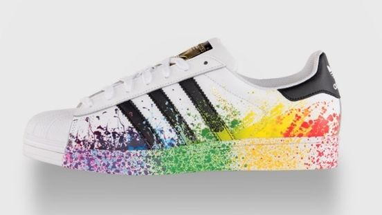 adidas superstars from the limited edition 39 pride pack 39 comfort zone brogues flats etc. Black Bedroom Furniture Sets. Home Design Ideas