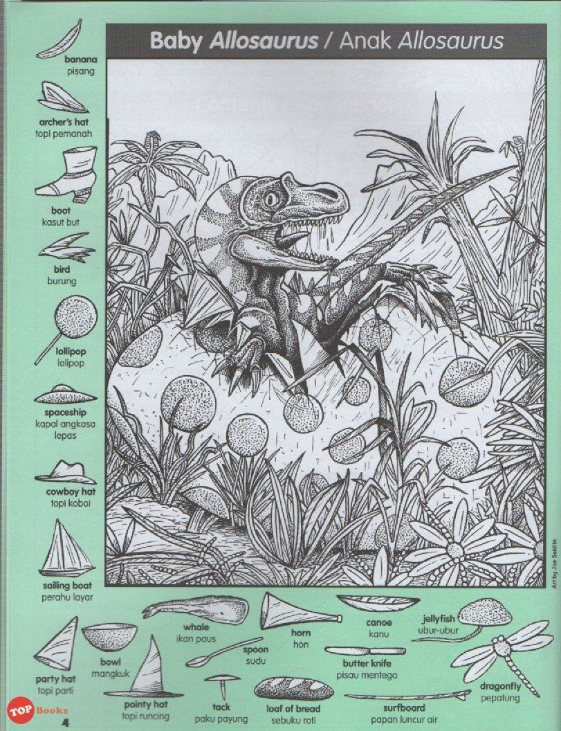 Highlights Hidden Pictures Dinosaur Puzzles Favourite Buku 2