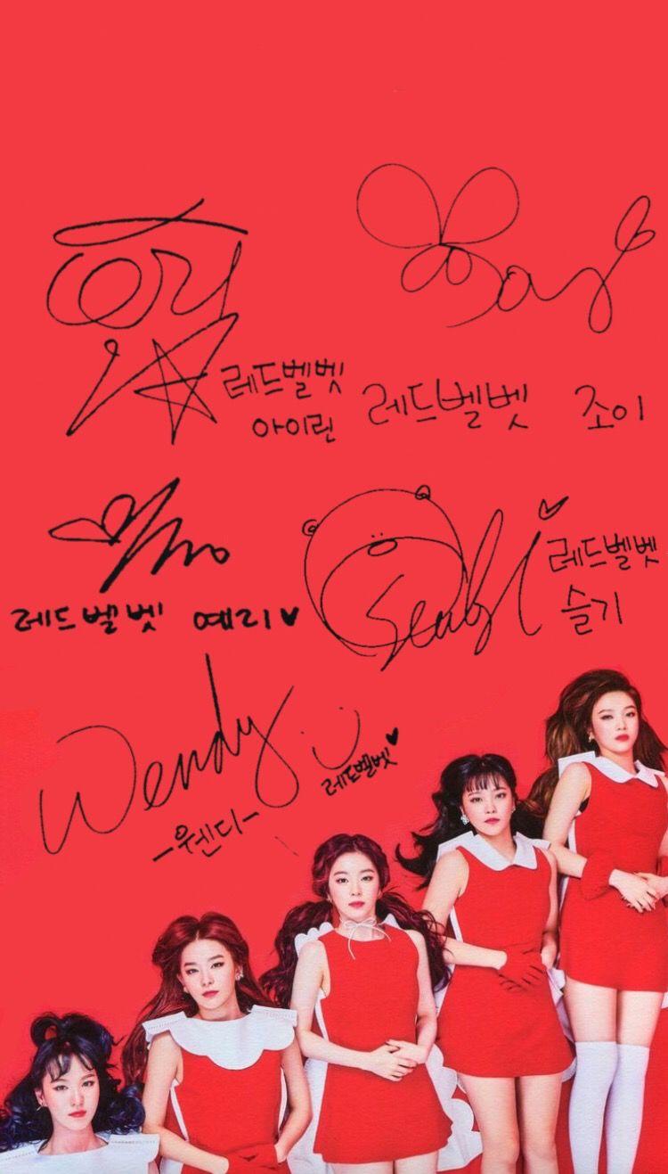 Red Velvet Wallpaper Iphone Wallpaper Ponsel