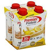 Premier Protein Bananas & Cream Shake 4 pk - Shop Diet & Fitness at H-E-B -  Premier Protein Bananas...
