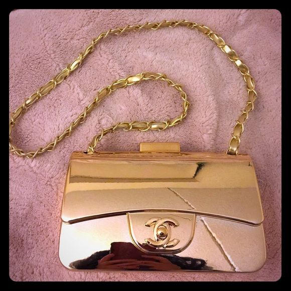 Golden Mirror cross body bag It's mirror bag, golden, very gorgeous❗️Small, shoulder/cross body bag.✨  Bags Shoulder Bags