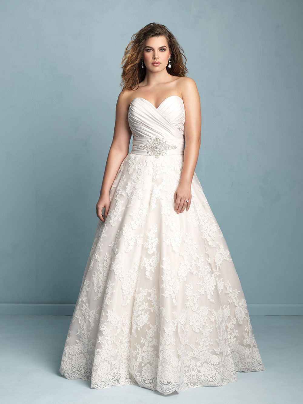 Allure Bridals Plus Size Ball Gown Wedding Dress