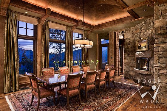 roger wade studio interior photography of traditional mountain ...