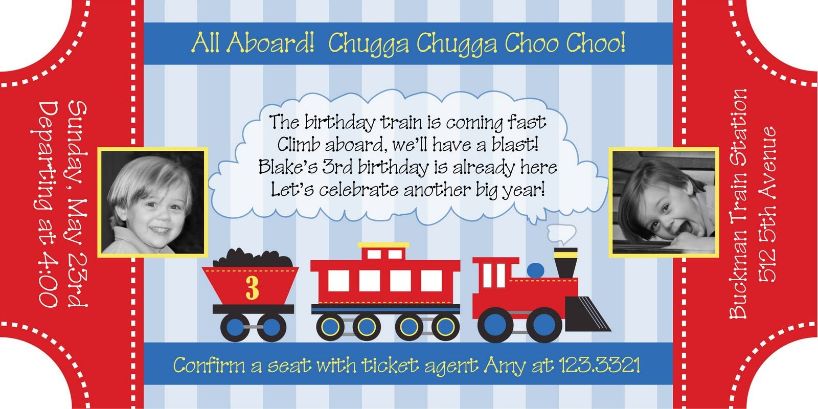 Train Ticket Invitation Free Template Birthday Pinterest - Party invitation template: train party invitations templates