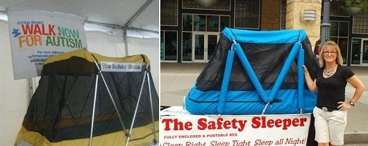 Portable bed for special needs children when away from home. Keeps them from climbing out & Portable bed for special needs children when away from home. Keeps ...
