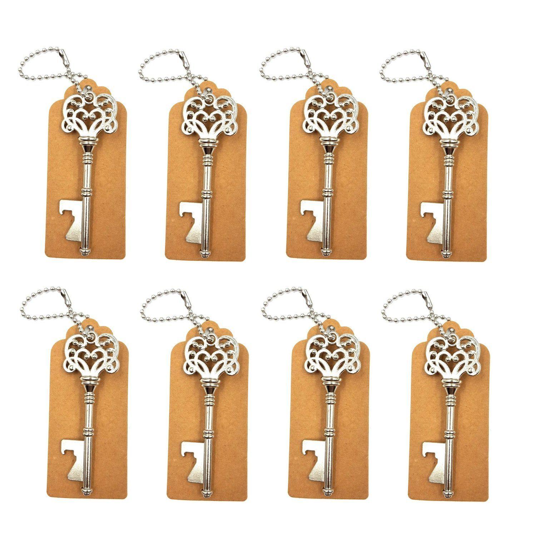 DerBlue 60 PCS Key Bottle Openers,Vintage Skeleton Key Bottle Opener ...