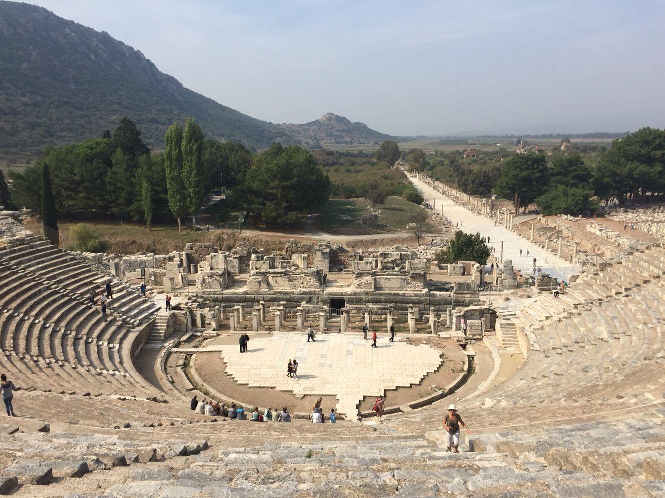Efes Antik Tiyatrosu Vacation Pinterest Mimari