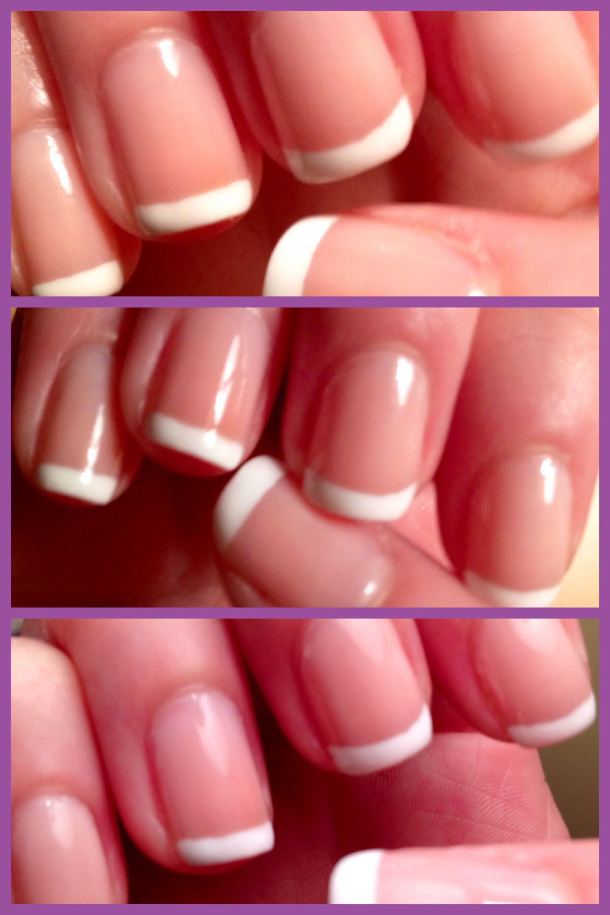 Perfect french! Three coats of sally hansen\'s arm candy (salon ...