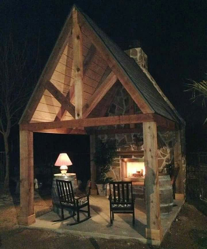 Beautiful Rustic Outdoor Fireplace Design Ideas 687: I Will Build This On A Beautiful Spot On Land I Will