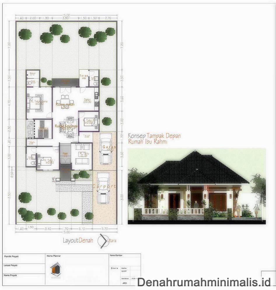 Desain Rumah Ukuran 7x9 3 Kamar Tidur Cek Bahan Bangunan