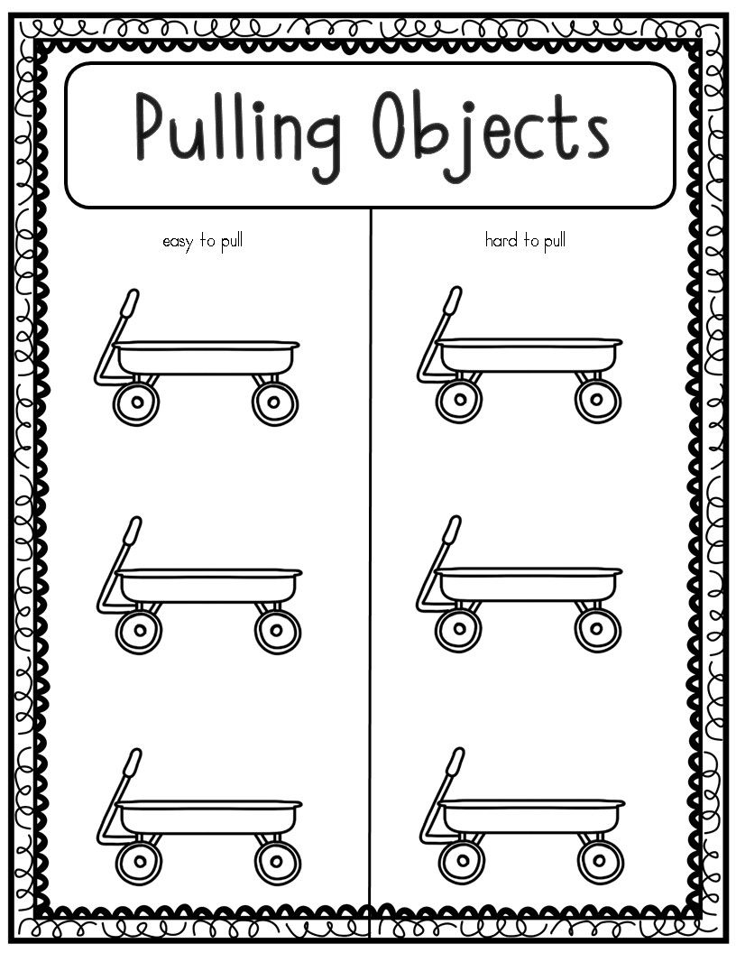 Force And Motion Pushes And Pulls Experiments Science Kindergarten Worksheets Kindergarten Worksheets Force And Motion [ 1056 x 816 Pixel ]