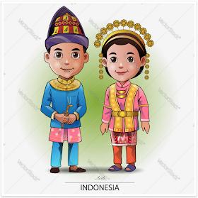 Jatmika Pakaian Adat Tradisional Di Indonesia Kartun Ilustrasi Vektor Pakaian Tradisional
