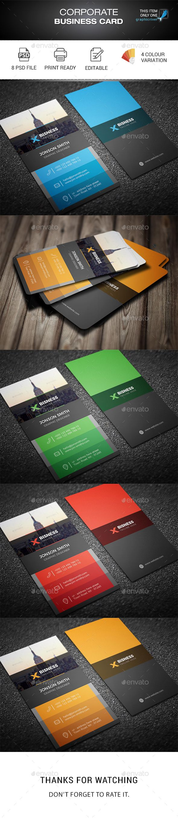 Corporate Business Card | Corporate business, Business cards and ...