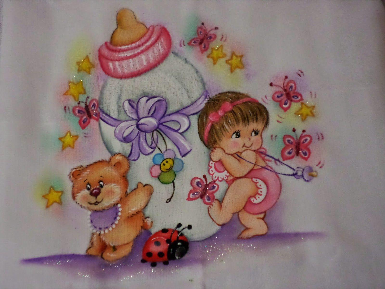 Eliana pintura e croch fraldas pintadas pintura - Pintura para decoupage ...