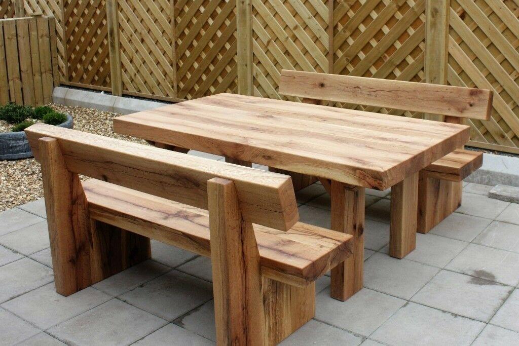 Rustikale Gartenmöbel Aus Holz Ungarn
