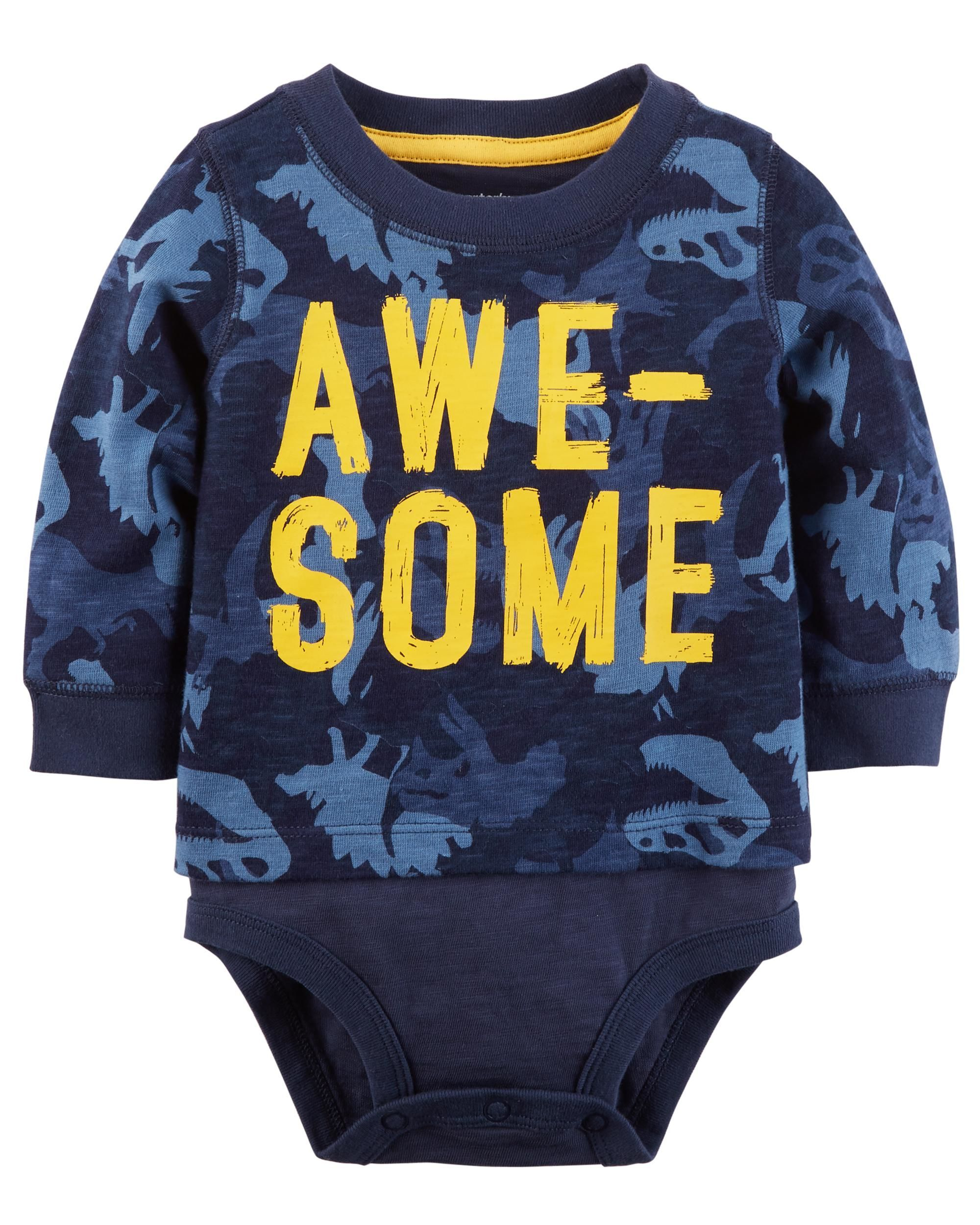f072aa918 Awesome Double-Decker Bodysuit | BABY&KIDS | Carters baby boys ...