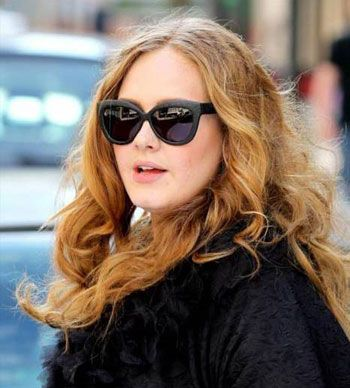 f1e892c165f0 Adele wearing Linda Farrow Luxe Snake Skin sunglasses