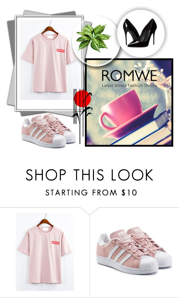 """Romwe style"" by elmademirovic ❤ liked on Polyvore featuring adidas Originals, Reeds Jewelers and Dolce&Gabbana"