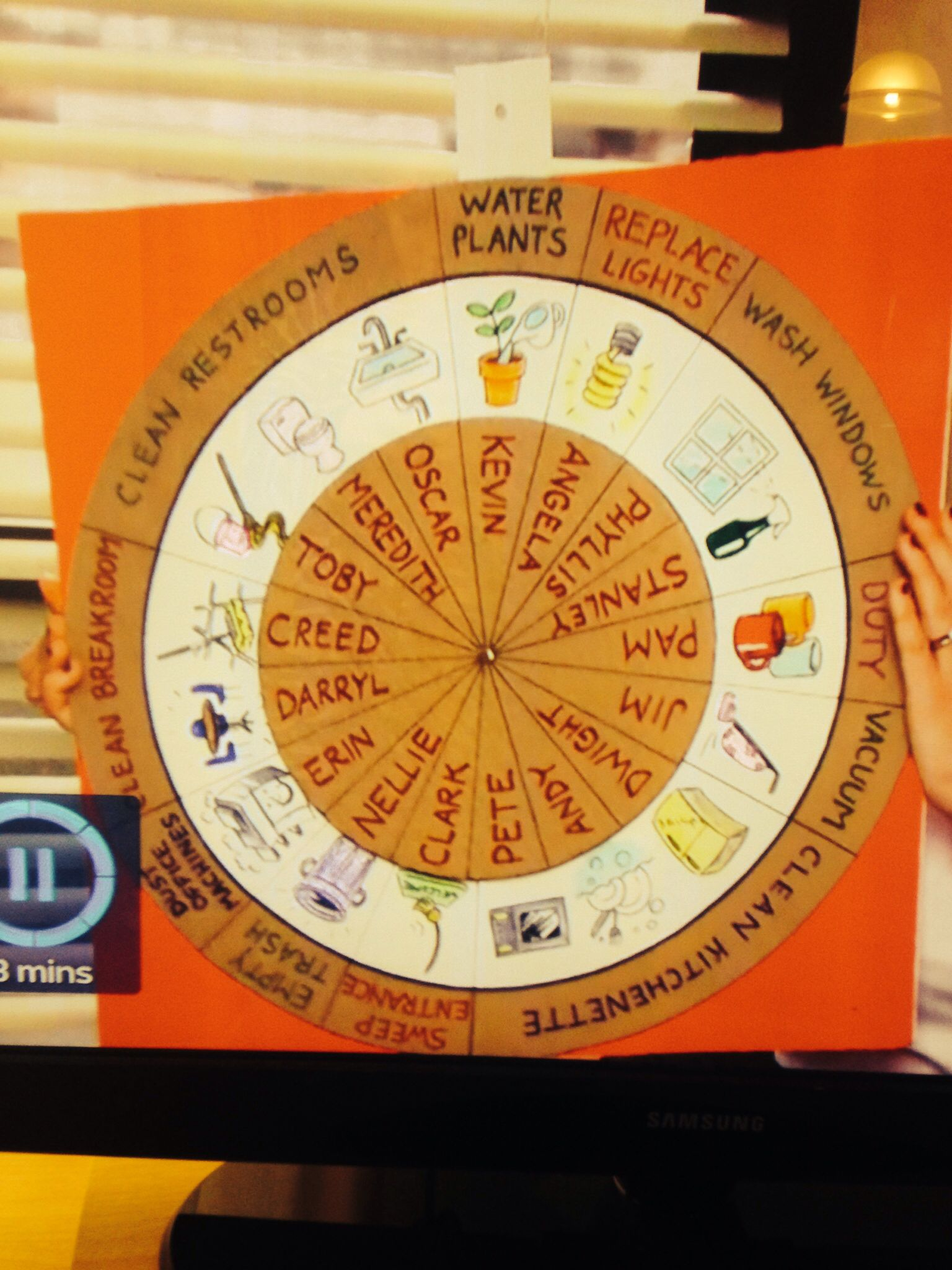 the chore wheel the office