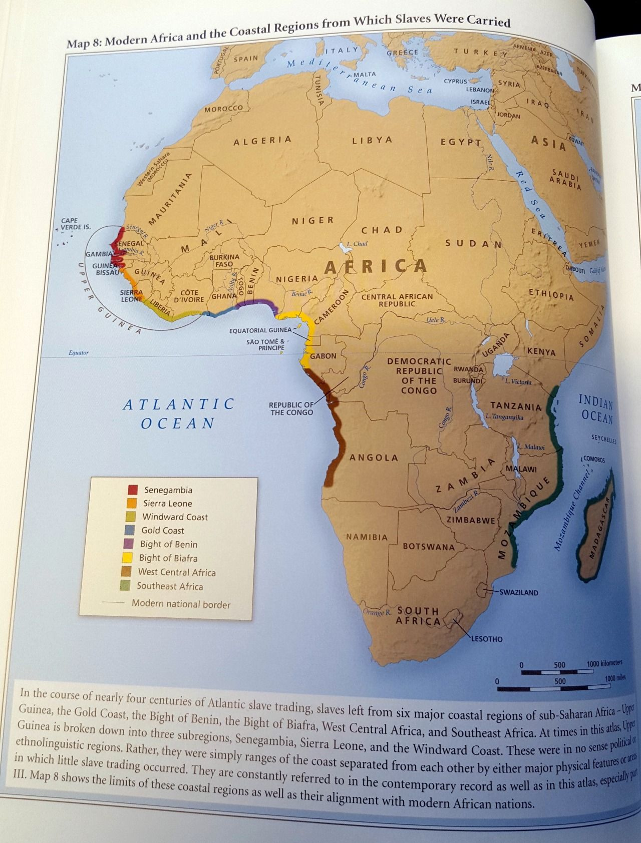Modern Africa And The Coastal Regions From Which Slaves Were Carried