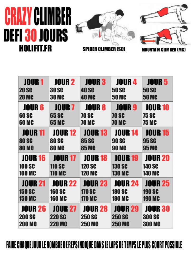 Défi 30 jours gainage - HOLIFIT  14f48d54a2c