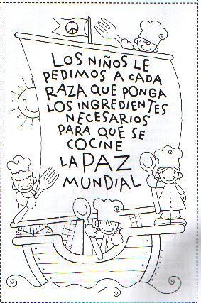 Dia De La Raza Para Colorear Dia De La Hispanidad Dia De La Cultura Dia De La Paz