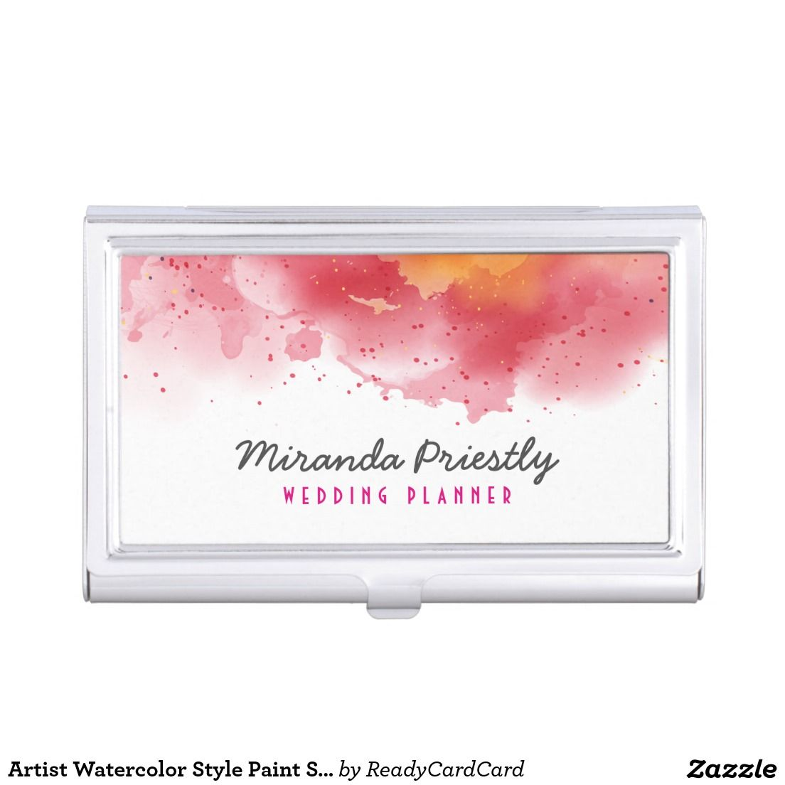 Artist watercolor style paint splatter chic business card holder artist watercolor style paint splatter chic business card holder colourmoves