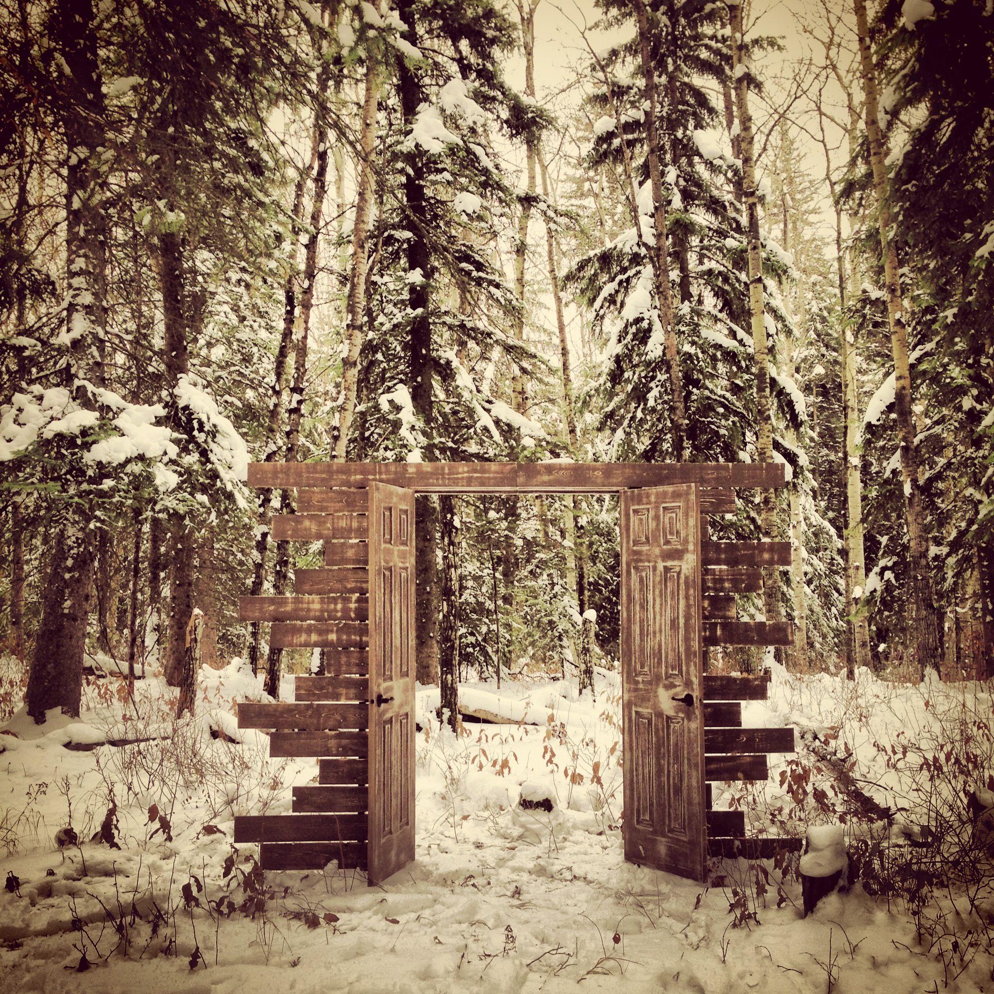 Rustic Door Wedding Ideas: Winter Wedding Rustic Entry Door... Love This