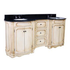 Hardware Resources, VAN040D-14E, Bathroom Vanities, Tesla Buttercream 72 Double Vanity With Preassembled Top And Bowl By Bath Element