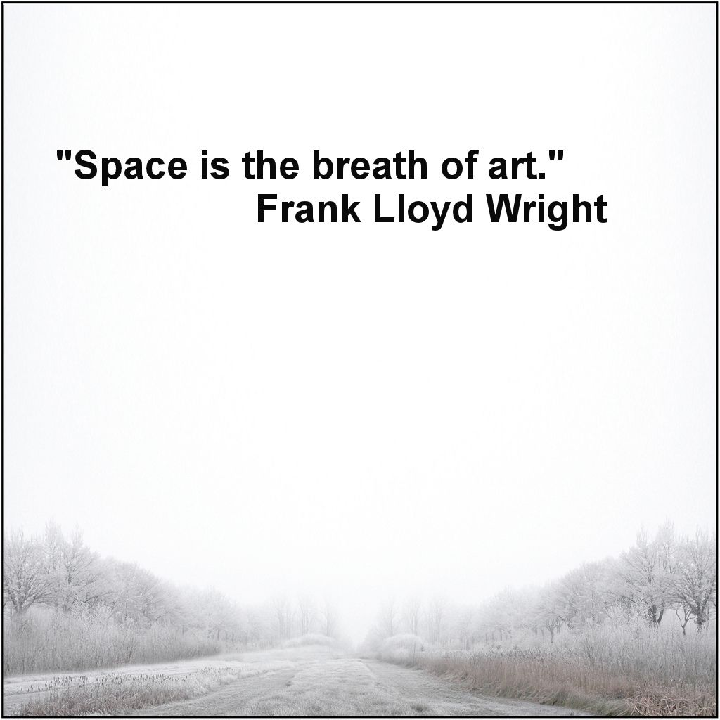 Space is the breath of art frank lloyd wright good for Art minimaliste citation