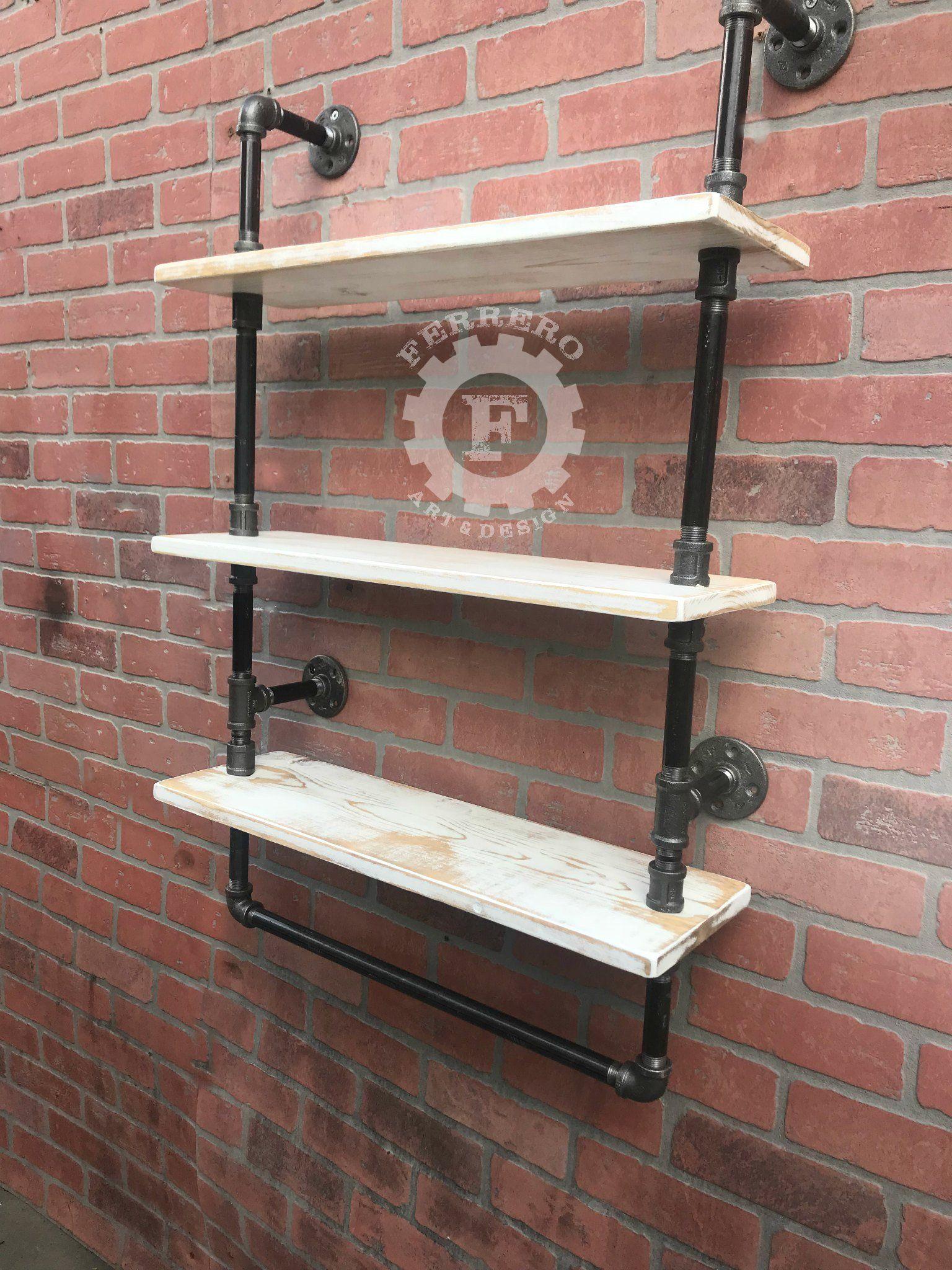 Industrial shelf pipe shelf shelves rustic kitchen bathroom
