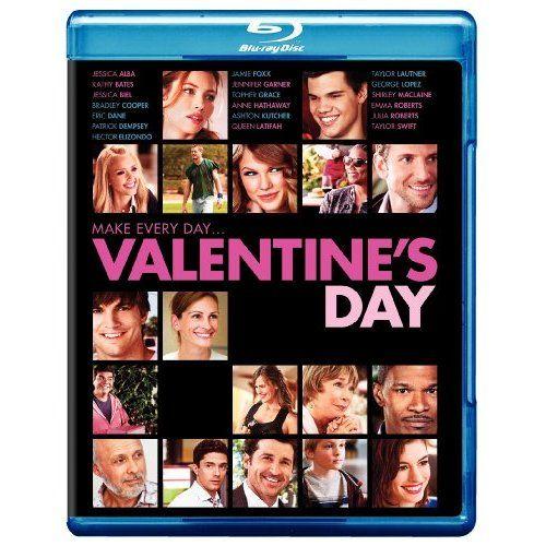 Now that's a great cast......  Amazon.com: Valentine's Day [Blu-ray]: Bradley Cooper, Jennifer Garner, Taylor Swift, Jamie Foxx, Jessica Alba, Kathy Bates, Jessica Biel, Anne Hathaway, Taylor Lautner, Julia Roberts, Garry Marshall $9.99