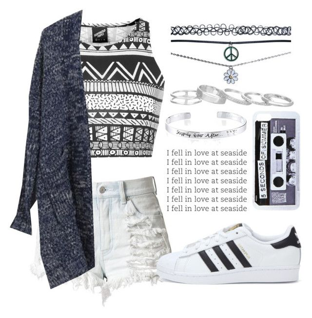 """""""Sin título #281"""" by ferlovespocito on Polyvore featuring Illustrated People, Wet Seal, Disney, Kendra Scott y adidas"""