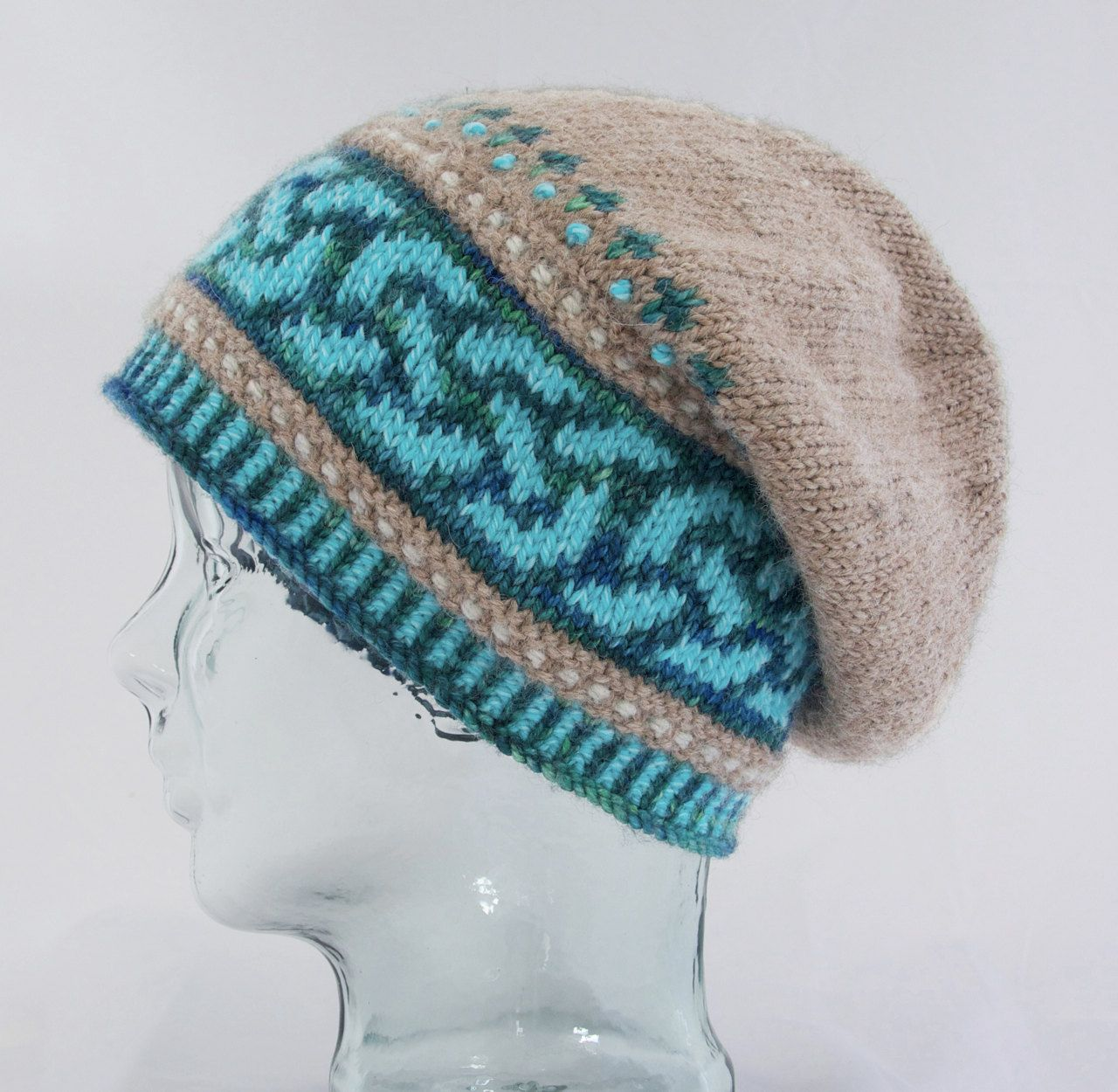 Fair Isle Knitting Hat : Knitting pattern for celtic double knot slouch hat ad
