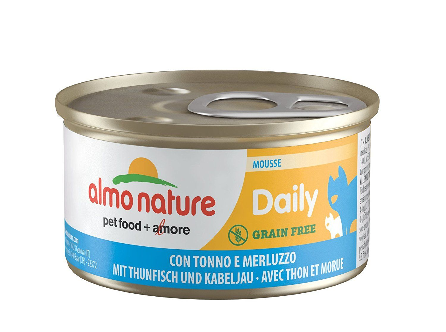 Almo Nature Daily Mousse With Tuna And Cod Grain Free Pack Of 24 X 85g Tins You Can Get More Details By Clicking On The Image C Grain Free Almo Mousse