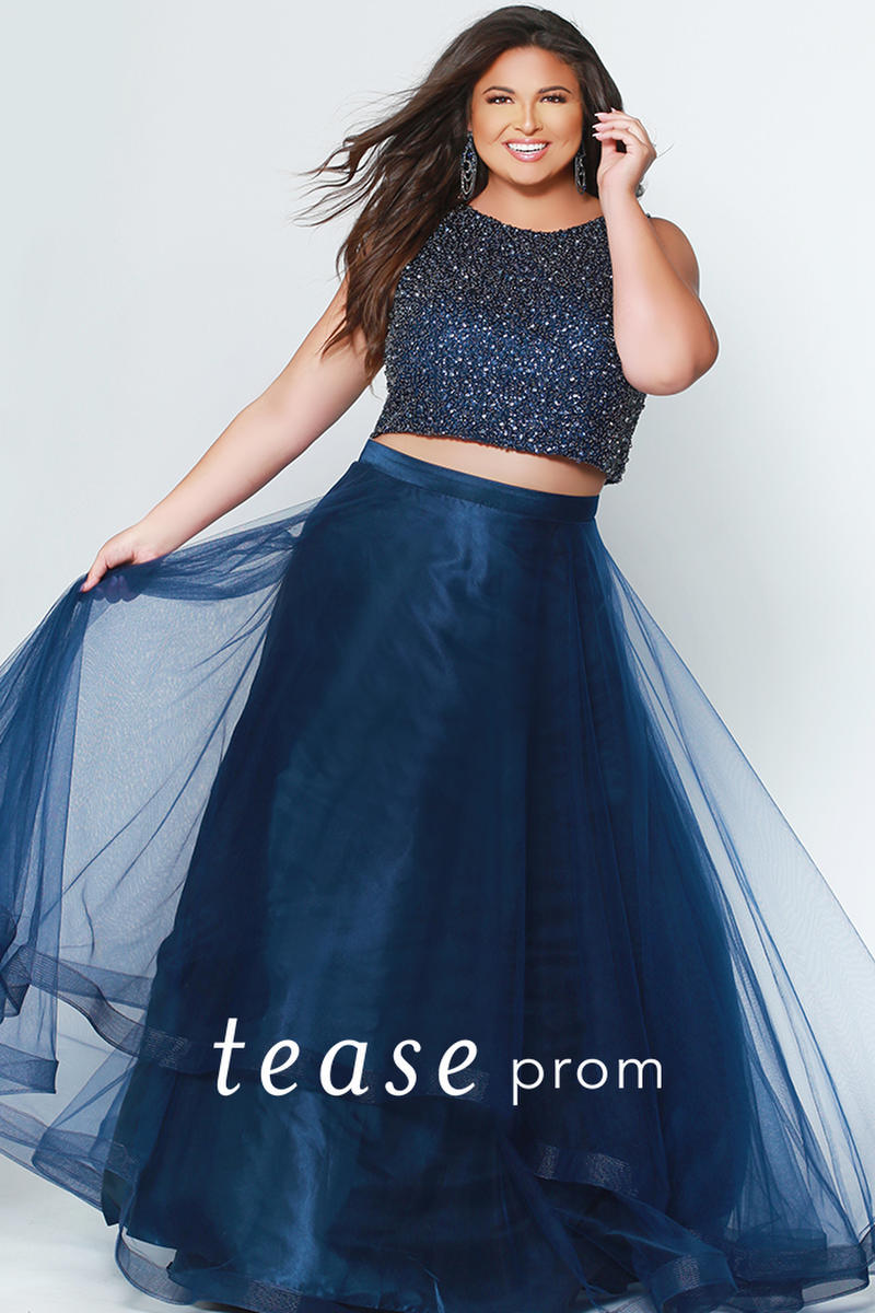 Check Out The Deal On Sydneys Closet Te1951 Tease Beaded 2 Piece Prom Dress At French Novelty Piece Prom Dress Plus Size Prom Dresses Prom Dresses [ 1200 x 800 Pixel ]