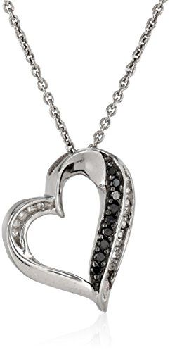 #blackdiamondgem Sterling Silver Black and White Diamond (1/10cttw, I-J Color, I2-I3 Clarity) Heart Pendant Necklace, 18″by Amazon Curated Collection - See more at: http://blackdiamondgemstone.com/jewelry/necklaces/pendants/sterling-silver-black-and-white-diamond-110cttw-ij-color-i2i3-clarity-heart-pendant-necklace-18-com/#sthash.6KuSFVGC.dpuf