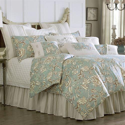 Best Master Furniture Regency Teal Floral Living Room: Grammercy Floral Comforter Bedding