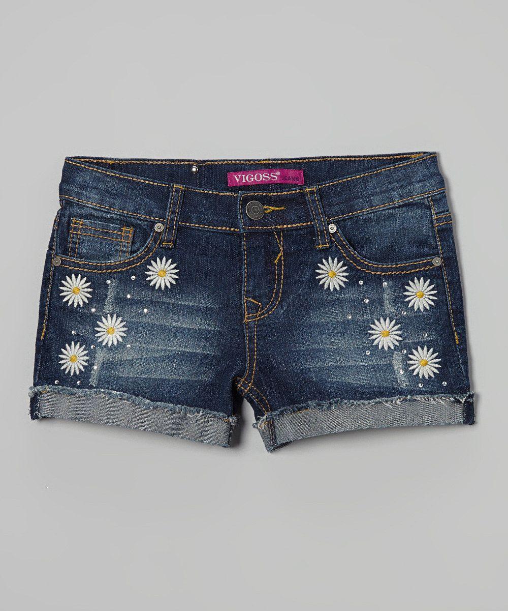 Vigoss Roadster Blue Daisy Duke Denim Shorts - Girls by Vigoss #zulily #zulilyfinds. $16.99