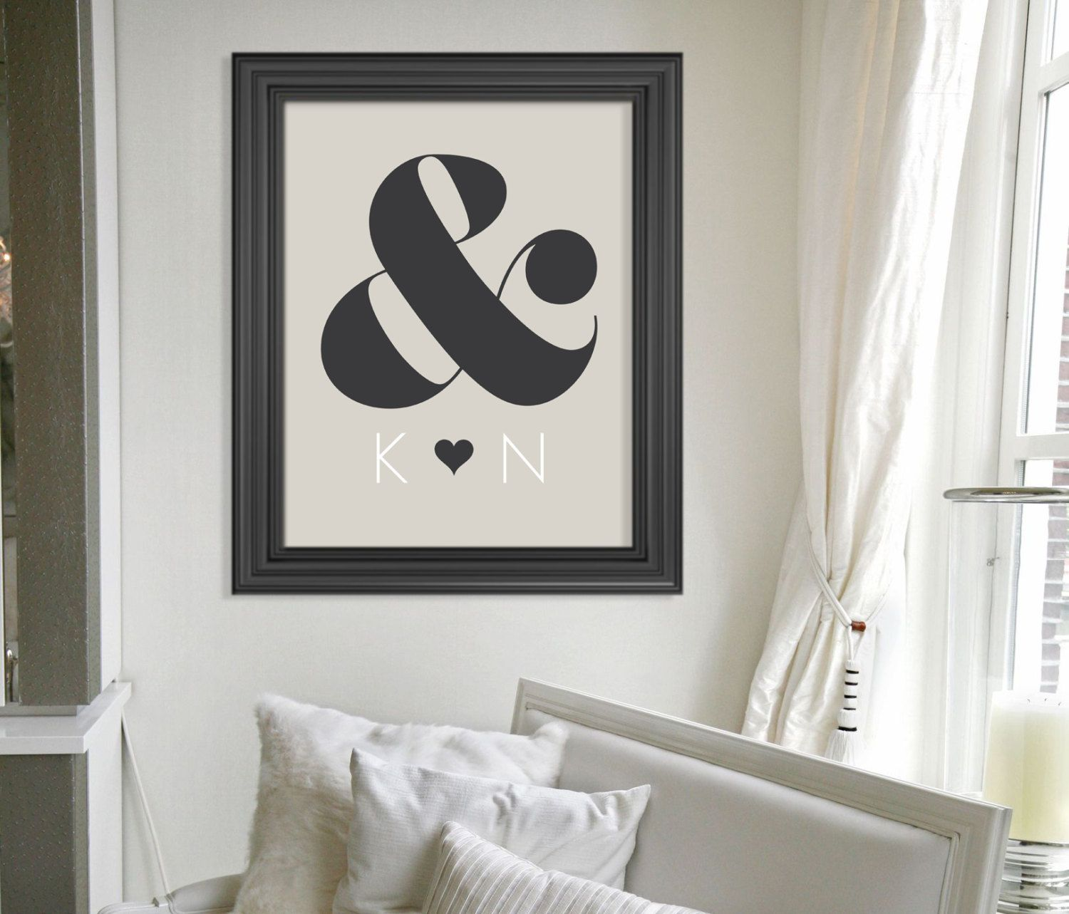 Custom Gift for Newlyweds // Personalized Engagement Gift // Modern ...