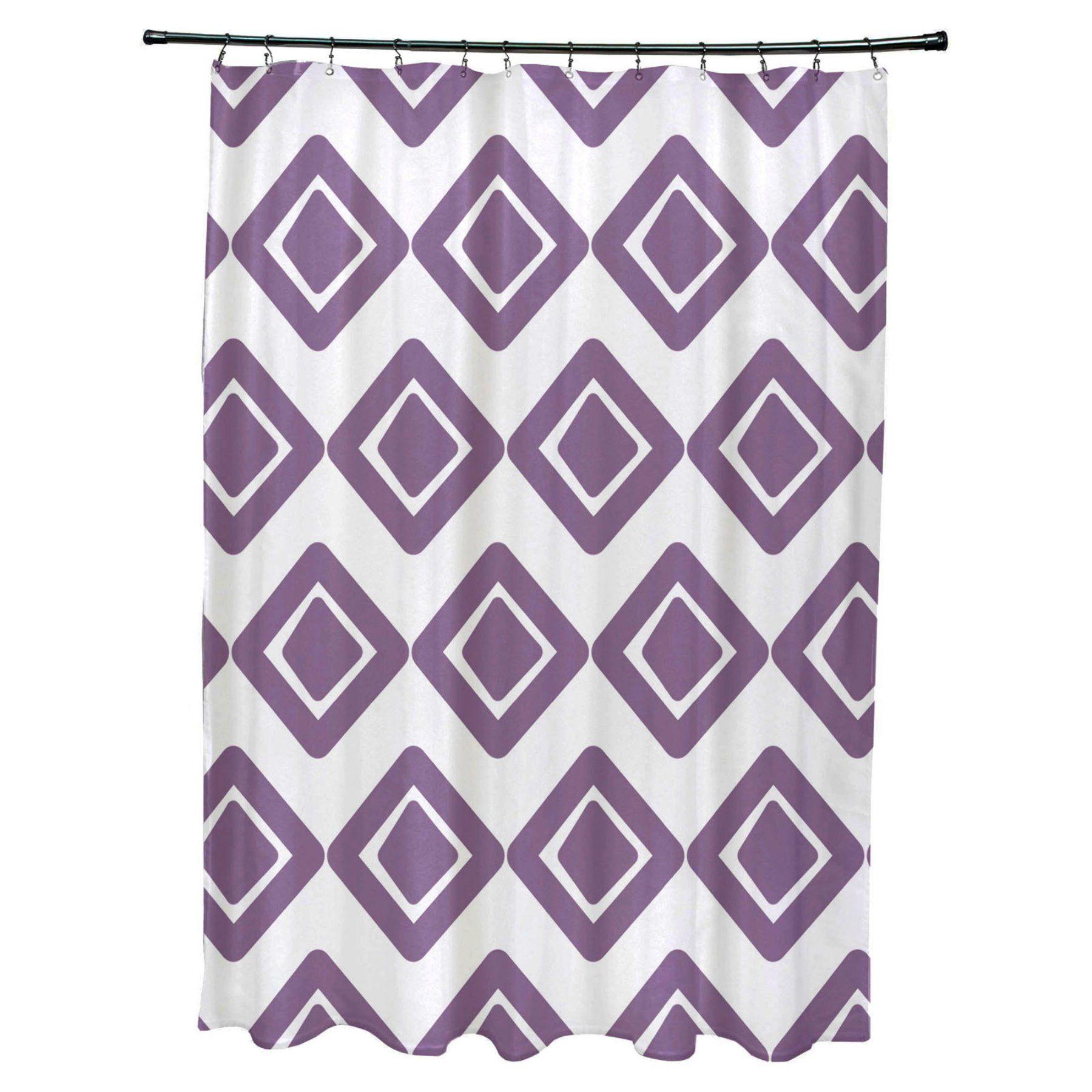 E By Design Diamond Jive 1 Polyester Shower Curtain Scg823bl1