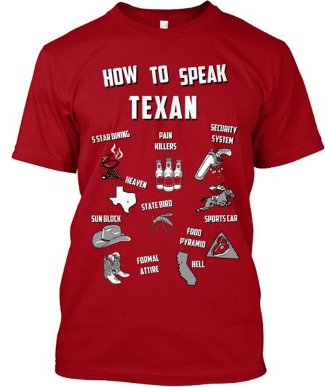 How to Speak Texan. Get your shirt now! Please support! $15.00